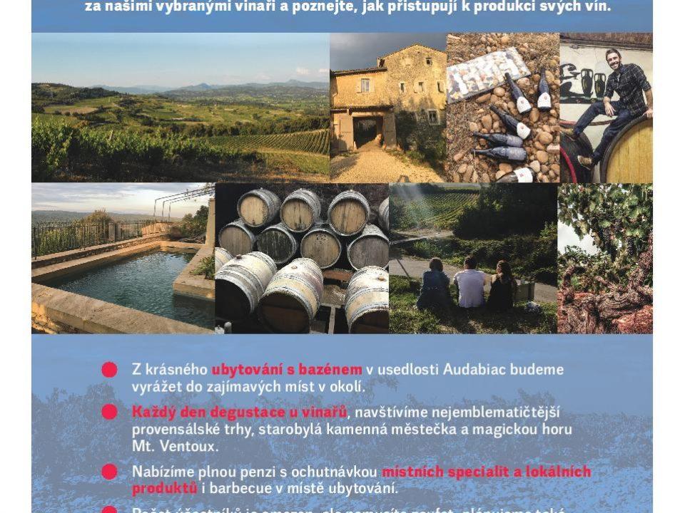 Cesty za našimi vinaři do Provence