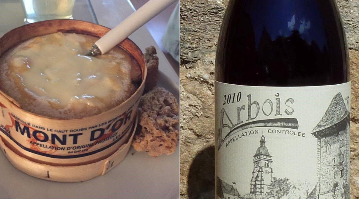 Degustace Mont d'Or a BIO vín z Jury