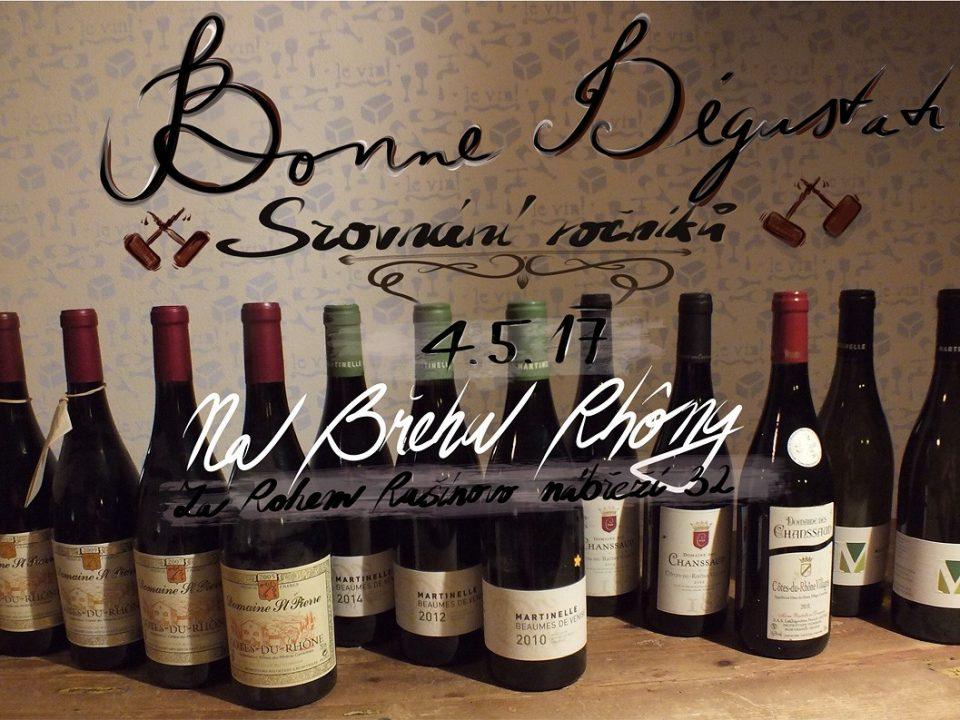 Degustace různých ročníků vybraných vín
