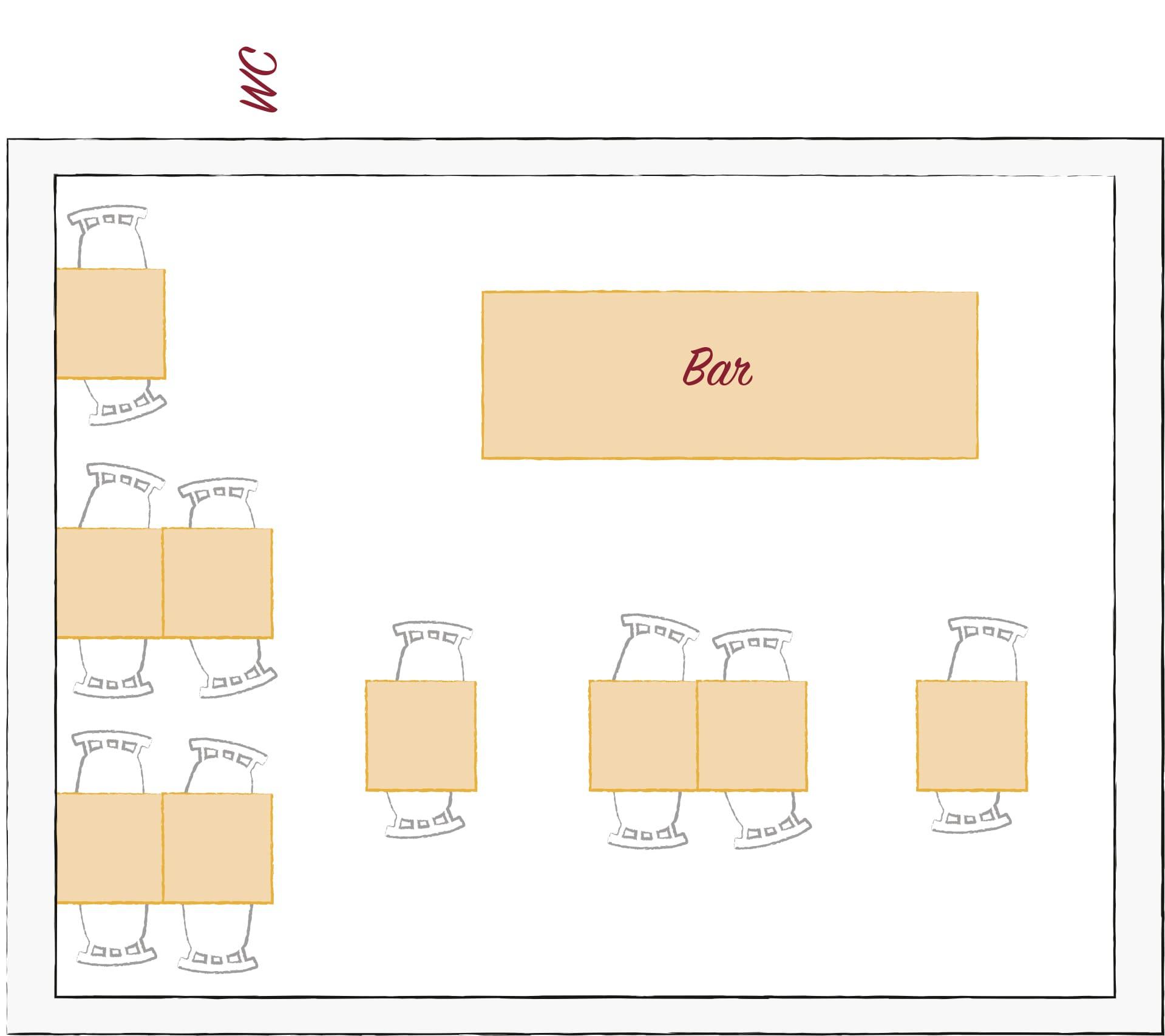 Plánek Na břehu Rhôny vinárna Dejvice